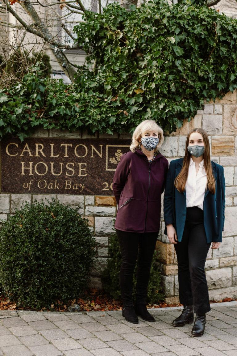 carlton house - mask wearing